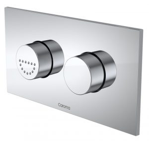 CAROMA INVISI II PLATE & CARE BUTTONS CHROME Product Image 1