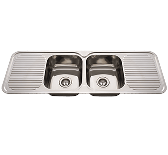 NuGleam 1380 DBL BOWL/DBL DRAINER - S/S SINK