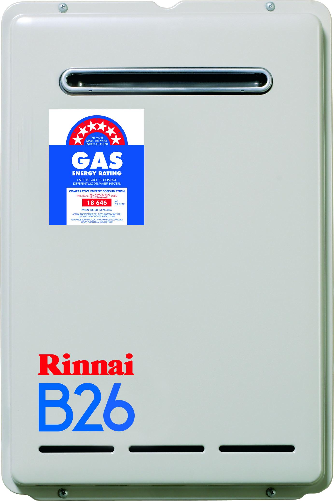 RINNAI B26 CONTINUOS FLOW 26lt