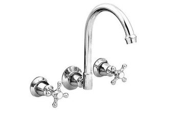 LINKWARE NOOSA WALL SINK SET WITH WHITE OR CHROME BELLS