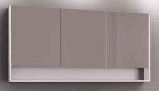 TIMBERLINE SAN REMO 1500MM SHAVING CABINET IN WHITE SATIN Product Image 1