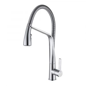 ARCISAN SINK MIXER WITH 2 JET HANDSPRAY ON METAL SPRING
