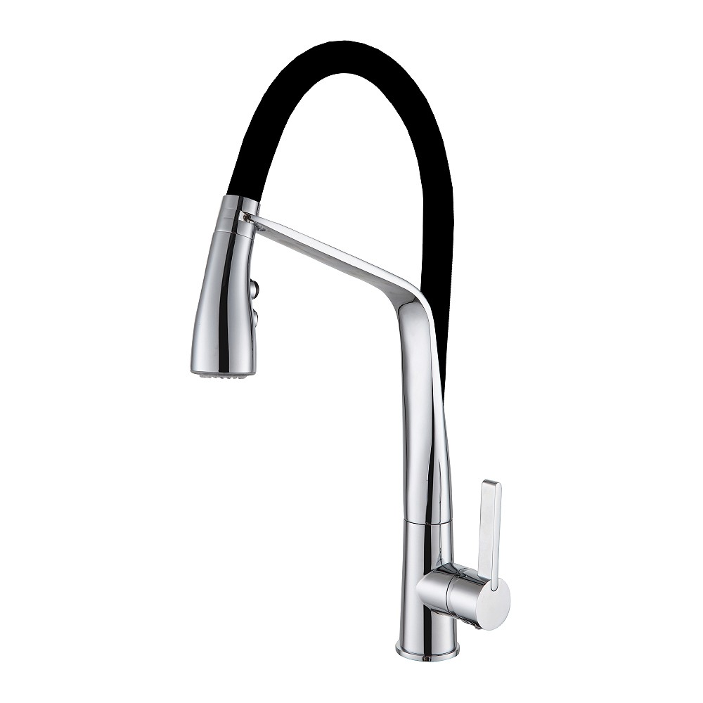 ARCISAN SINK MIXER WITH 2 JET HANDSPRAY ON BLACK HOSE ARO1271 (5*5.5L/Min)