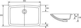 ARGENT ZEN DEEP UNDERCOUNTER BASIN 560X380MM Product Image 2
