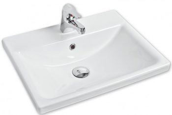AGENT ZEN DROP IN BASIN WITH ONE TAP HOLE 520X410MM
