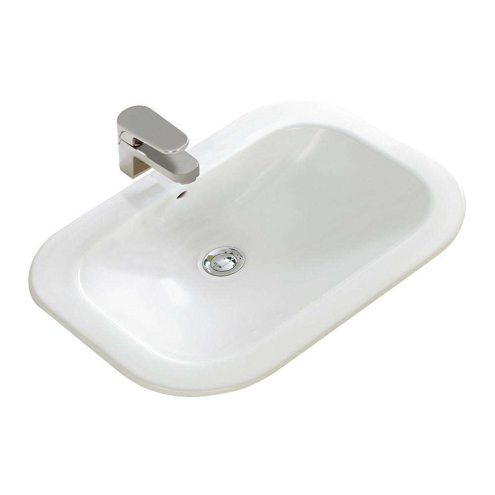 NEXUS INSET BASIN 56X40CM 1TH O/F WITH WASTE