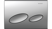 GEBERIT KAPPA 20 DUAL-FLUSH PLATE BRIGHT CHROME Product Image 2