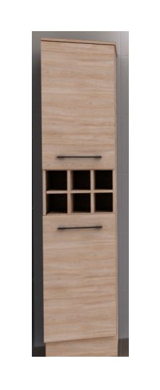 TIMBERLINE ST.CLAIR WALL HUNG TALL BOY IN ELEGANT OAK