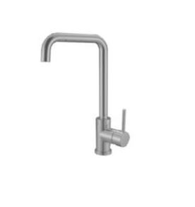 AXUS PIN LEVER SINK MIXER WITH SQUARE GOOSENECK SATIN NICKEL
