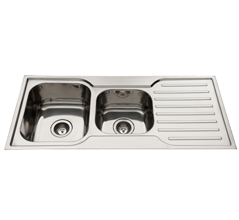 SQUARELINE 1080 - 1.75 S/S SINK - RIGHT HAND BOWL - 1TH