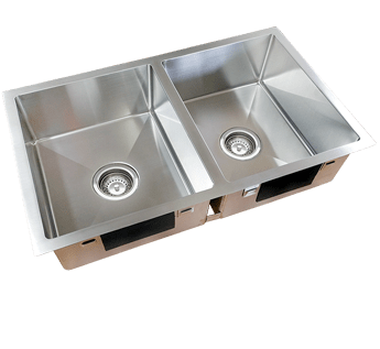 SQUARELINE DOUBLE UNDERMOUNT SINK - 760 X 450