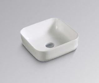BESTLINK SOFT SQUARE ABOVE COUNTER BASIN 390X390MM