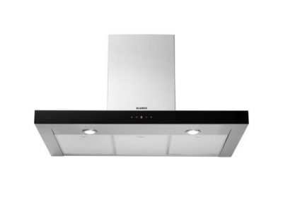 BLANCO 90CM CANOPY RANGEHOOD WITH TOUCH CONTROL AND BLACK GLASS FRONT
