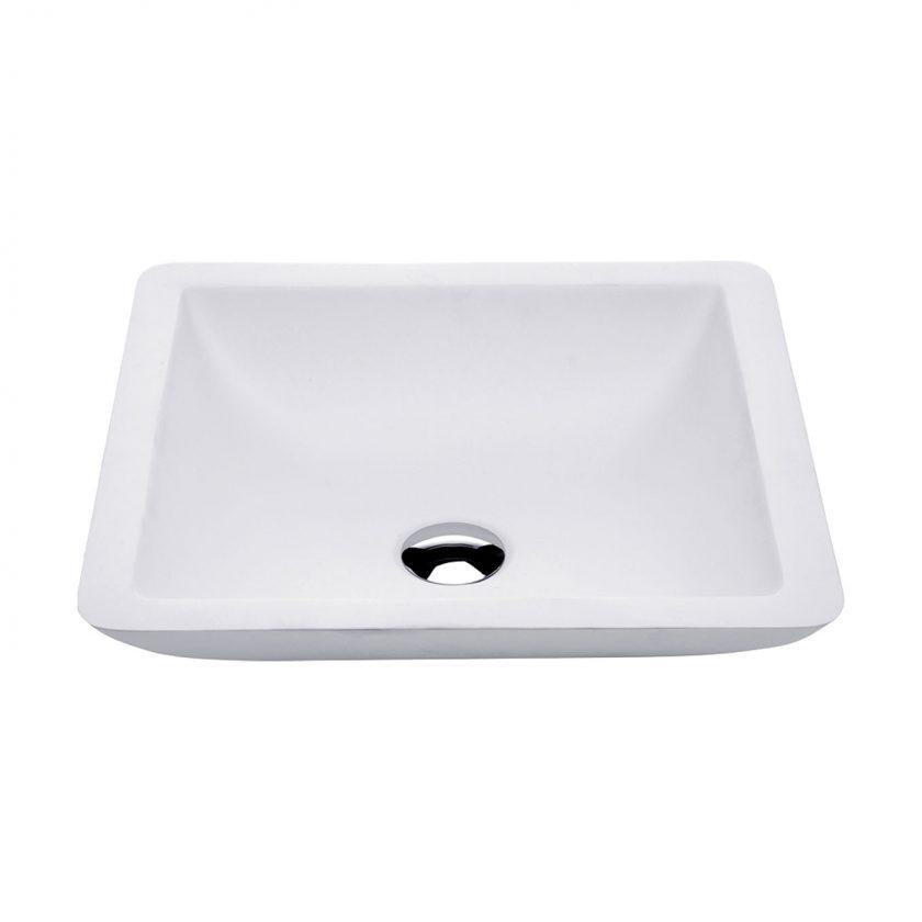 FIENZA CLASSIQUE MATT WHITE SOLID SURFACE BASIN 420X420MM Product Image 1