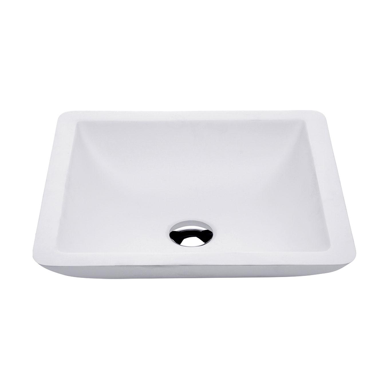 FIENZA CLASSIQUE MATT WHITE SOLID SURFACE BASIN 420X420MM