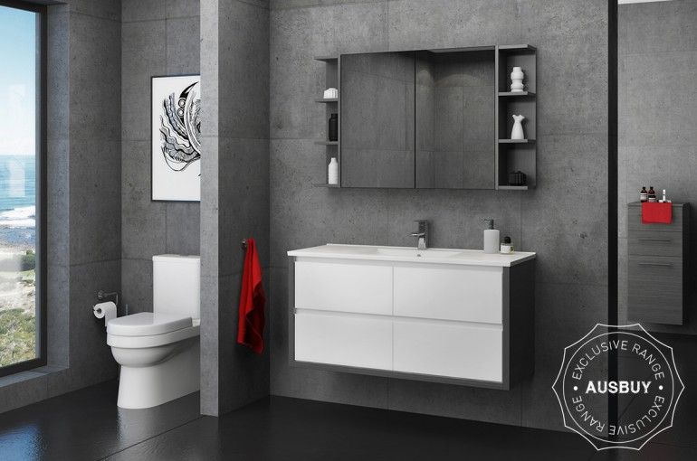 GRANGE 900MM WALL HUNG VANITY WITH REGAL ACRYLIC TOP Product Image 1