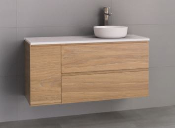 TIMBERLINE MARSHALL VANITY 1200MM IN PRIME OAK WITH STONE TOP