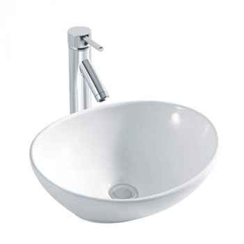 BESTLINK OVAL ABOVE COUNTER BASIN 410X335MM