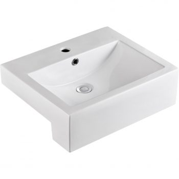 FIENZA BELINDA SQUARE SEMI-RECESSED BASIN WITH ONE TAP HOLE 510X420MM Product Image 1