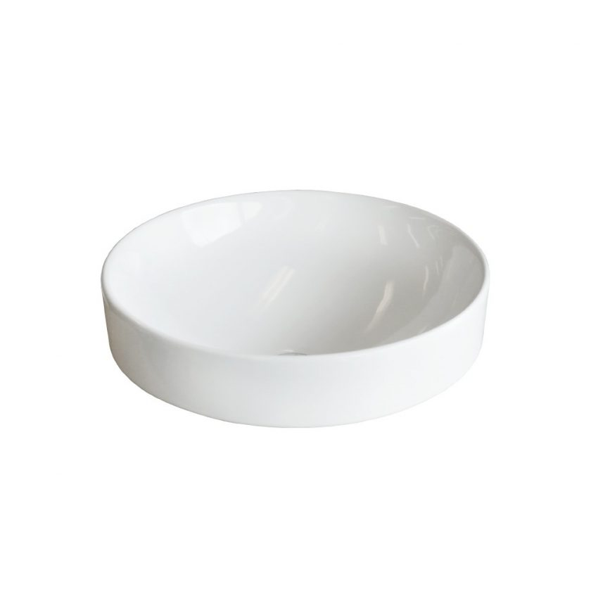 PLAZA ROUND SEMI INSET BASIN 400MM PZ04802 Product Image 1