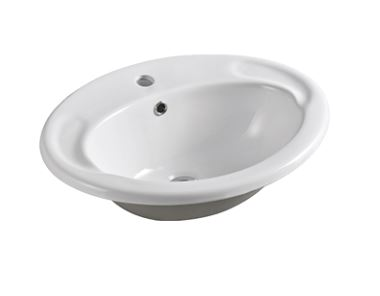 EVERHARD VIRTUE OVAL INSET BASIN WITH ONE TAP HOLE 560X440MM