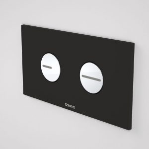 CAROMA INVISI II SQUARE PLATE WITH ROUND BUTTONS BLACK/CHROME Product Image 1