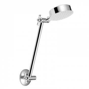 AUSTWORLD ALL DIRECTIONAL SHOWER ARM & ROSE CHROME Product Image 1