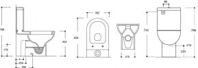 ARGENT MODE BACK TO WALL TOILET SUITE WITH S/CLOSE SEAT Product Image 3