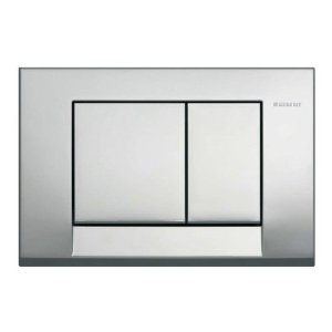 GEBERIT SIGMA BOLERO DUAL-FLUSH PLATE BRIGHT CHROME, ABS