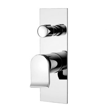 FIENZA LINCOLN WALL MIXER WITH DIVERTER CHROME
