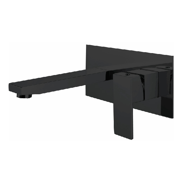 NAUTICA WALL BASIN/BATH SET MATT BLACK  F0441BK