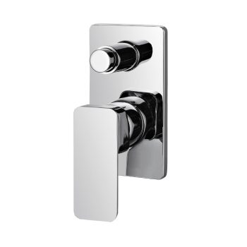STREAMLINE AXUS WALL MIXER WITH DIVERTER CHROME