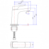 CHASER BASIN MIXER MATT BLACK Product Image 3