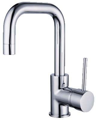 HELLYCAR IDEAL BASIN MIXER SQUARE SWIVEL GOOSENECK CHROME