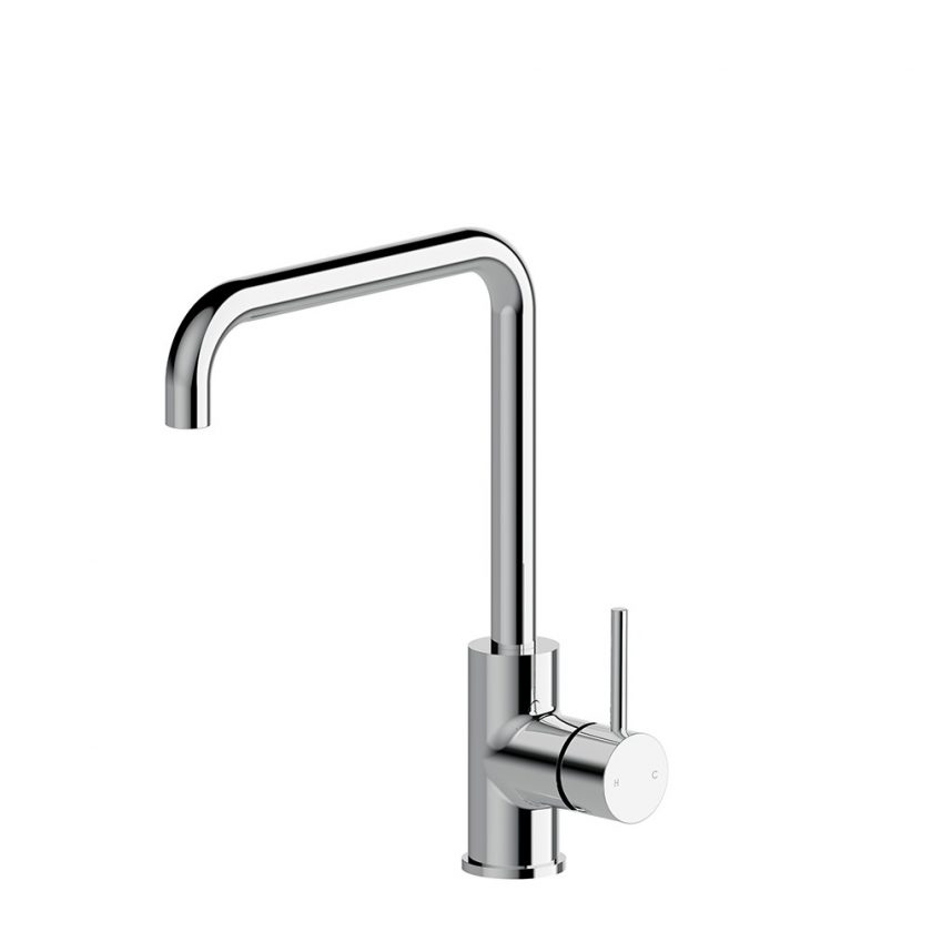 STREAMLINE AXUS PIN LEVER SINK MIXER WITH SQUARE GOOSENECK Product Image 1