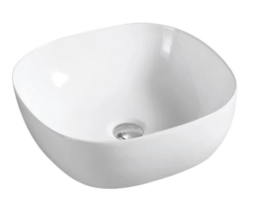 AVON CURVED COUNTER TOP BASIN 415X415X145MM