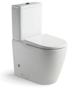 ARGENT GRACE HYGIENIC FLUSH BACK TO WALL TOILET SUITE Product Image 1