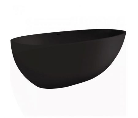 BAHAMA SOLID SURFACE FREESTANDING BATH MATTE BLACK 1685x885x560MM