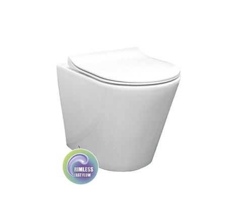 BEST BM ROUND WALL FACED TOILET SUITE WITH S/CLOSE SEAT