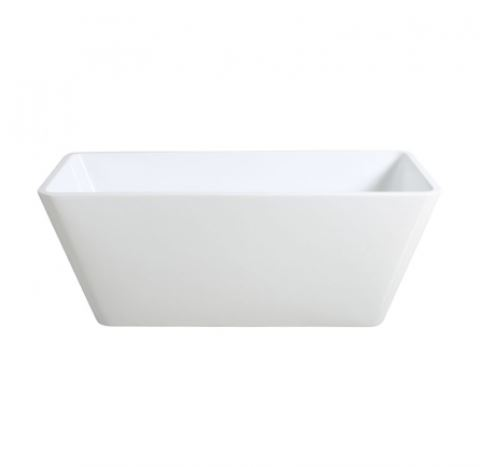 Ceramic Exchange Square Form Freestanding Bath 1500mm