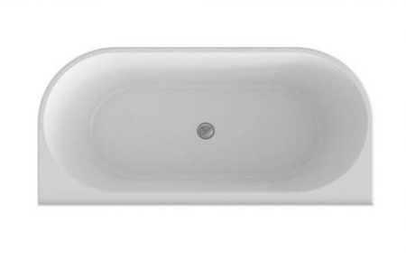 CERAMIC EXCHANGE CURVED FORM FREESTANDING BACK TO WALL BATH