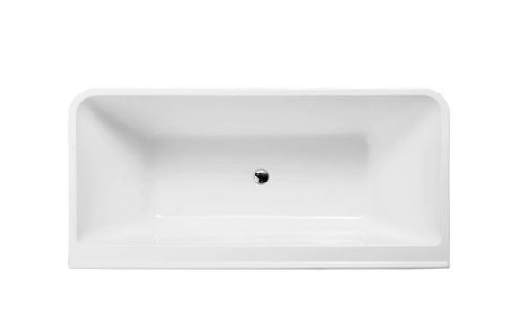 CERAMIC EXCHANGE SQUARE FORM FREESTANDING BACK TO WALL BATH