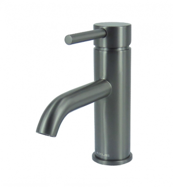 STREAMLINE AXUS PIN LEVER BASIN MIXER GUN METAL