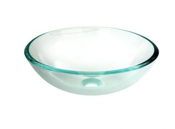 FIENZA CRYSTAL CLEAR GLASS ABOVE COUNTER BASIN 420MM