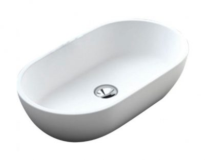 FIENZA NERO SOLID SURFACE BASIN 580X380MM Product Image 1