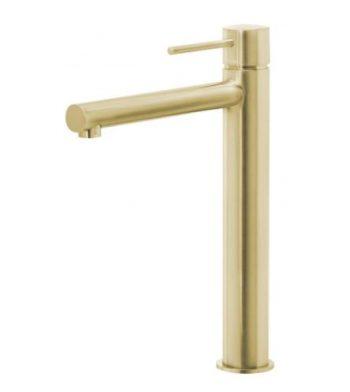 PHOENIX VIVID SLIMLINE VESSEL MIXER BRUSHED GOLD Product Image 1
