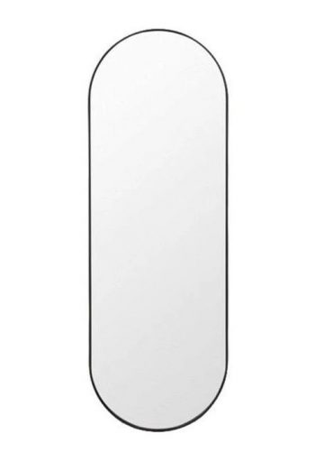 INNOVA OVAL MIRROR WITH MATTE BLACK METAL FRAME 1000MM
