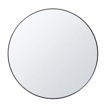 INNOVA ROUND MIRROR WITH MATTE BLACK METAL FRAME 800MM