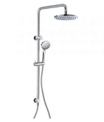 STREAMLINE AXUS SHOWER COLUMN WITH HANDSHOWER SATIN NICKEL - TOP DIVERTER