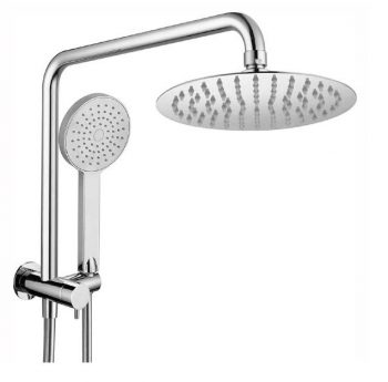 HELLYCAR CHRIS OVERHEAD SHOWER WITH HANDHELD SHOWER CHROME